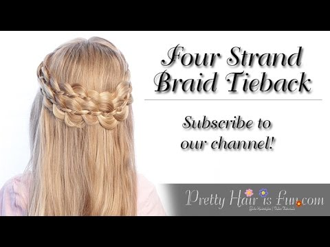How To Do a Four Strand Braid Tieback | Pretty Hair is Fun