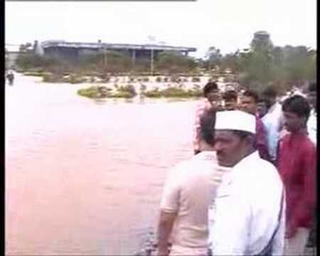 visakha airport in flood