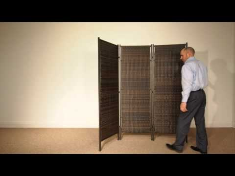 3-Panel Folding Wicker Partition by Versare
