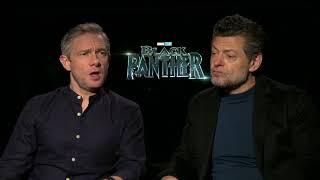 "Meet the ""White Guys"" of  Black Panther Martin Freeman & Andy Serkis Full interview"