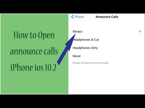 How to open announce calls iPhone ios 10.2 | Use announce calls iPhone