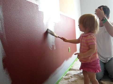Painting Tiny Baby's room