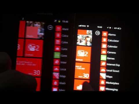 iPhone 4 vs Galaxy S2 running WP7 HTML5 demo