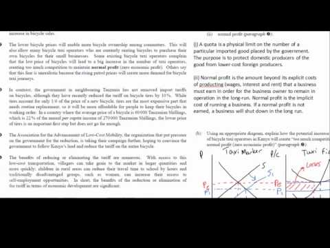 IB Data Response Question - worked solution. November 2007 HL paper 3, #3