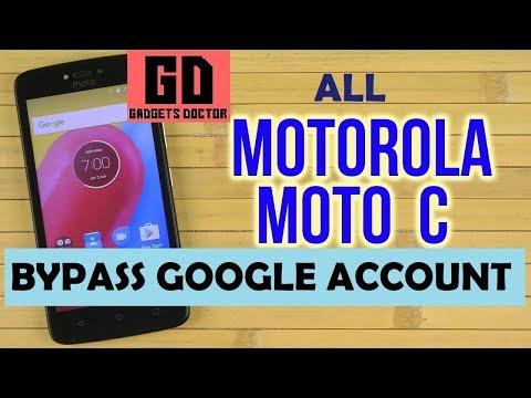 Bypass FRP Google Account On MOTO C XT 1750XT 1754XT 1756XT