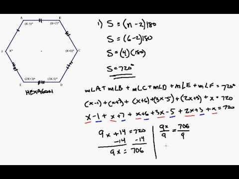Interior Angle Formula Applied to Irregular Hexagon