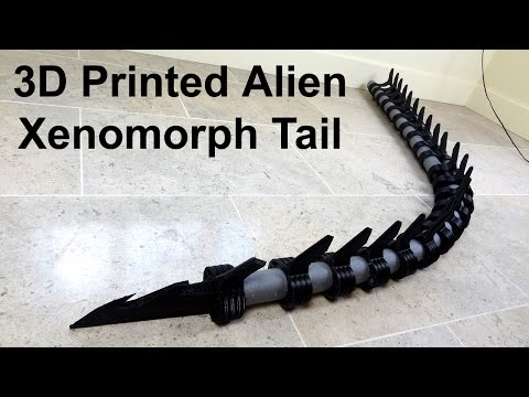 XRobots - 3D Printed Alien Xenomorph Cosplay Part 12, Tail sections!