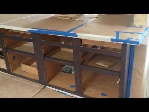 refinishing oak kitchen cabinet in espresso  timeless arts refinishing