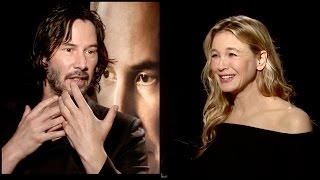 Keanu Reeves & Renée Zellweger on watching their OLD movies