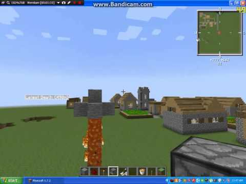Minecraft Tutorial - How To Make A Fire Bow - Minecraft - Cara Membuat Sebuah mesin panah api