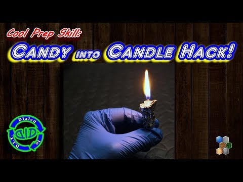 Fast Candy Candle Hack - Be Prepared - Instant Light