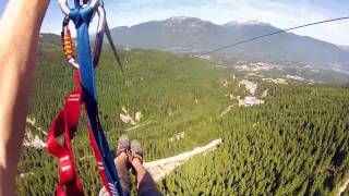 Adrenaline-filled zip line hits speeds over 90mph!