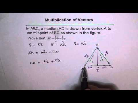 Median as Half of Two Sides Vector Geometry