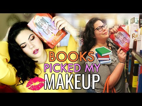 BOOKS PICKED MY MAKEUP   Book Hunting Makeup Challenge