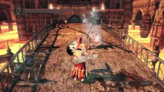 Dark Souls 2 PVP Parrying a dual great sword build.