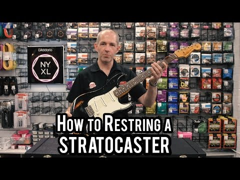 How To restring a Stratocaster with Cranbourne Music