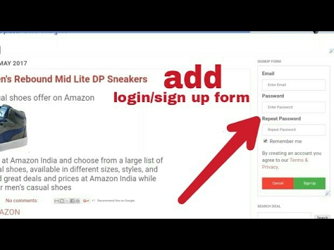 How to Create/add login and sign up form into the blogger