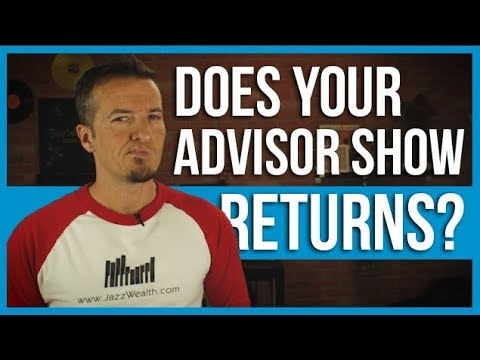 Why financial advisors will not show their performance for clients.