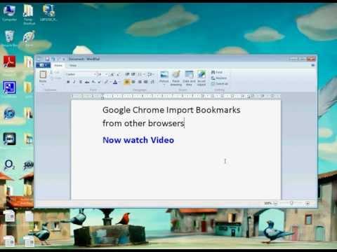 Google Chrome Import Bookmarks (Simple)