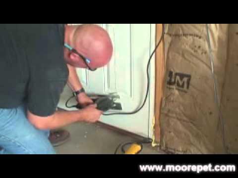 MaxSeal Pet Door Installation into Doors| Step 3: Making Your Rough Cut in Door