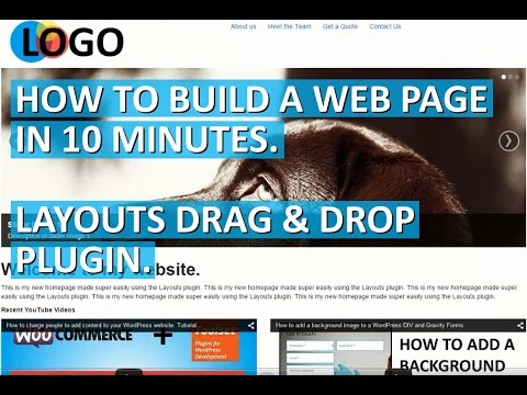 Create a website homepage in 10 minutes using the Layout Plugin