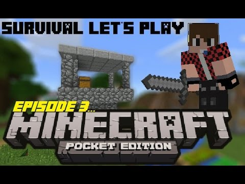 Let's play survival- NEW watch tower | Minecraft PE
