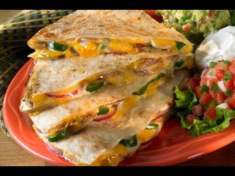 Chicken and Cheese Quesadilla - How To Make Chicken Quesadilla