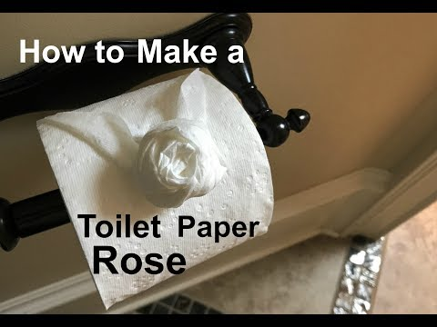 How to Make a Toilet Paper Rose in 21 Seconds
