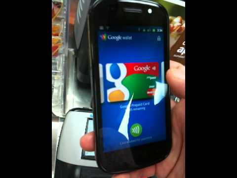 my first NFC mobile payment from the google wallet