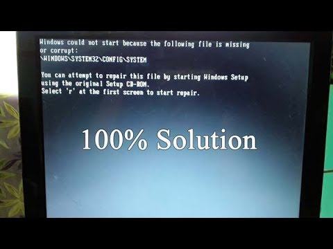 windows could not start because the following file is missing or corrupt||fix error