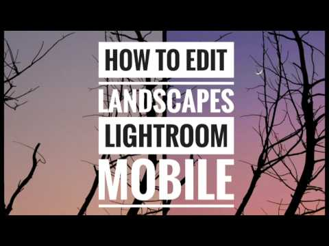 How to edit landscapes in Lightroom Mobile app