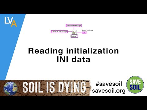 How to read data from configuration INI file - LabVIEW