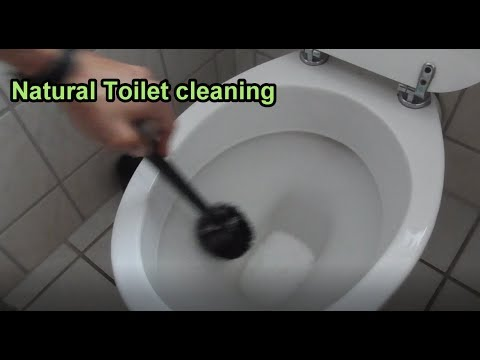 Natural Toilet cleaning Tutorial / DIY Toilet bowl cleaner with vinegar and Baking soda / powder