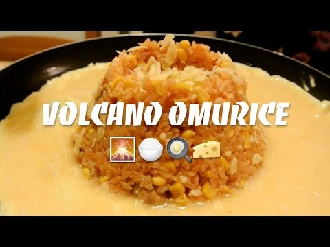 Volcano Omurice (Japanese/Korean Fried Rice)