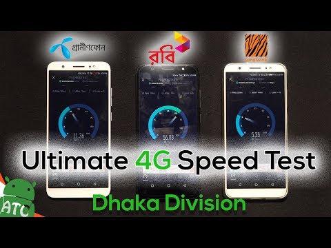 GP vs Robi vs BL | Ultimate 4G Speed Test - Dhaka Division