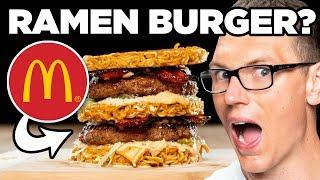 McDonald's Kimchi Bacon Ramen Big Mac Taste Test | FUTURE FAST FOOD
