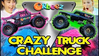 SPECIAL Orbeez Obstacle Course for Monster Trucks Jumps!   Official Orbeez