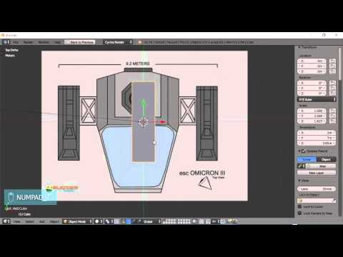Blender For Noobs - Spaceship tutorial - Part 1 of 12