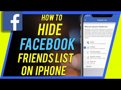 How To Hide Your Facebook Friends List on iPhone