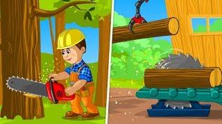 Tukang Kayu Permainan Anak Laki Laki   Builder Trucks Games for Kids   Permainan Pembangun