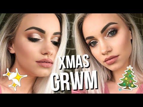 CHRISTMAS PARTY CHATTY GRWM // Half Cut-Crease Makeup Tutorial