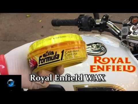 Royal Enfield Tips and Tricks  | How to Wax Polish | Formula 1 | Bullet |