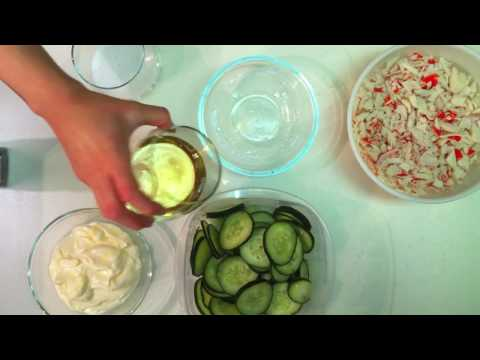 Fresh Japanese Cucumber Crab Side Salad Recipe