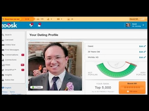 Zoosk Online Dating Review - Boost Test