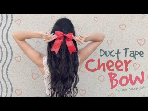 DIY CHEER BOW with Duct Tape - How To | SoCraftastic