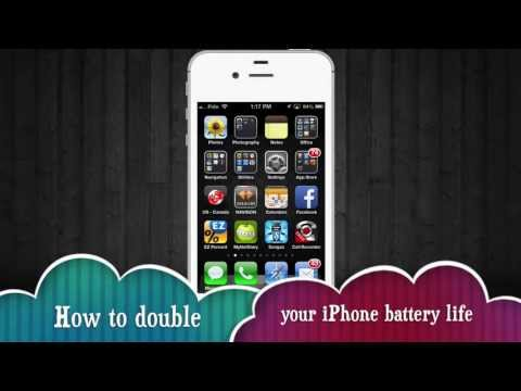 How to Double iPhone Battery life, how to make battery last longer iPhone 5 iPhone 4S iPhone 4
