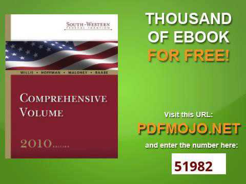 South Western Federal Taxation 2010 Comprehensive Volume, Professional Version