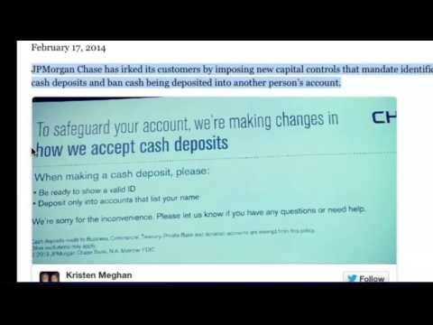 Chase Bank Imposes New Capital Controls On Cash Deposits