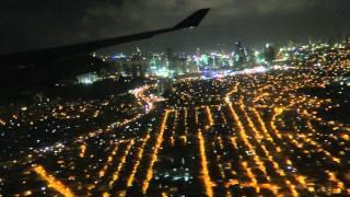 "[B747]Night landing Manila Airport Delta Airlines 275 B747-400(16'23"")2015"