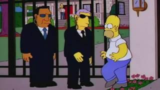 Homer Threatens To Kill George Bush
